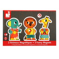3 Funny Magnets - A Day At Zoo